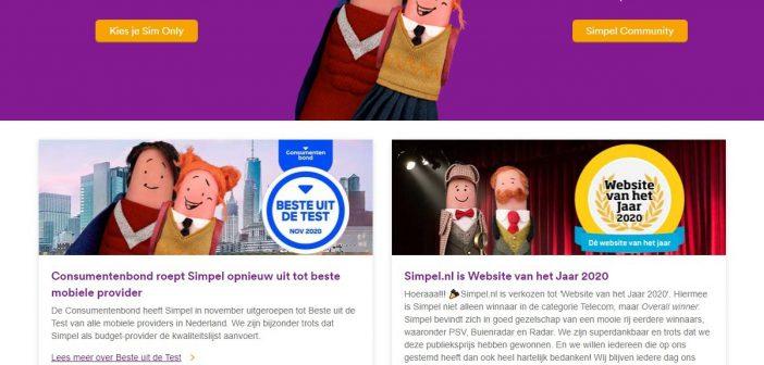 Enrise bouwt voor Simpel.nl 'Beste website van het jaar'